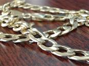 "VINTAGE 30"" CURB CUBAN HOLLOW NECKLACE CHAIN  REAL 10K GOLD 6.75mm"